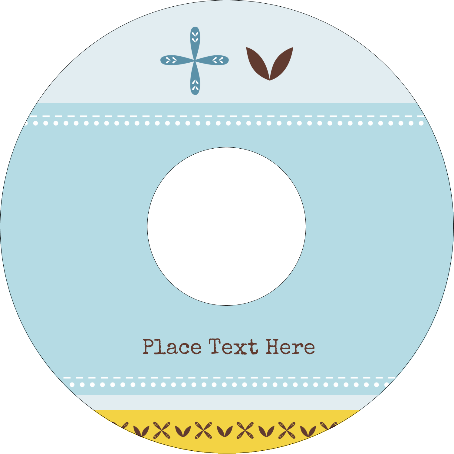 "4.65"" CD-DVD Label - Bath Blue"