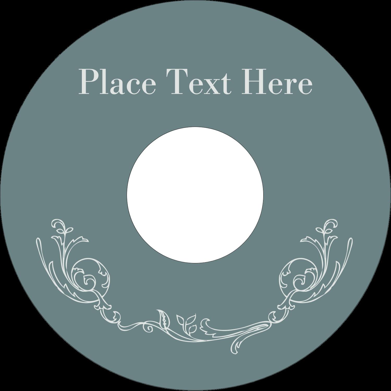 "4.65"" CD-DVD Label - Bath French"