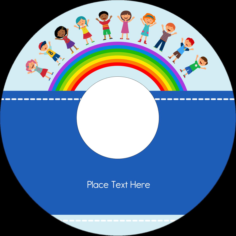 "4.65"" CD-DVD Label - Childcare Education"