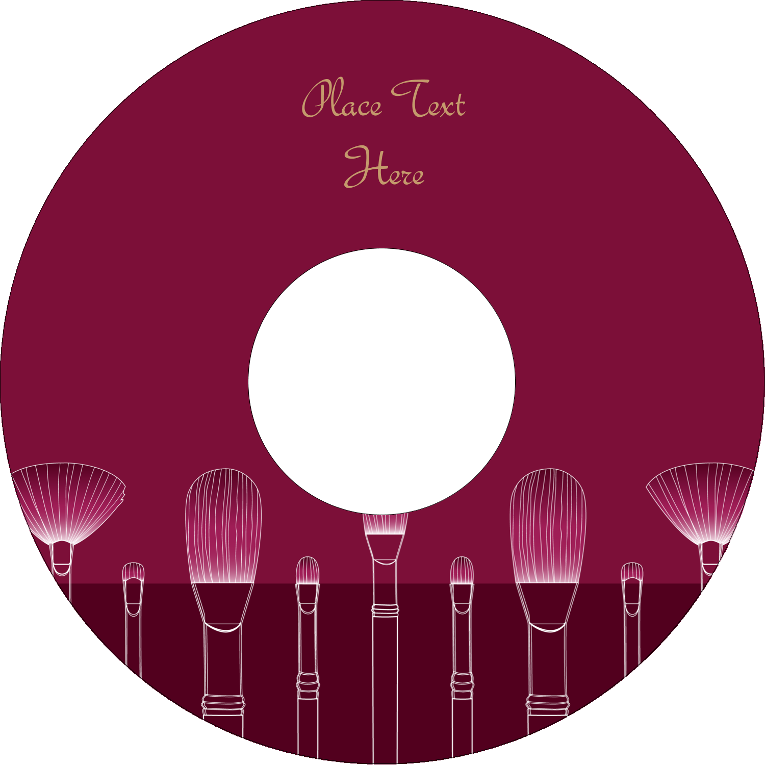 "4.65"" CD-DVD Label - Cosmetic Brushes"