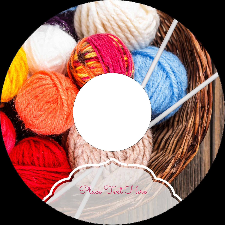 "4.65"" CD-DVD Label - Knitting Crafts"