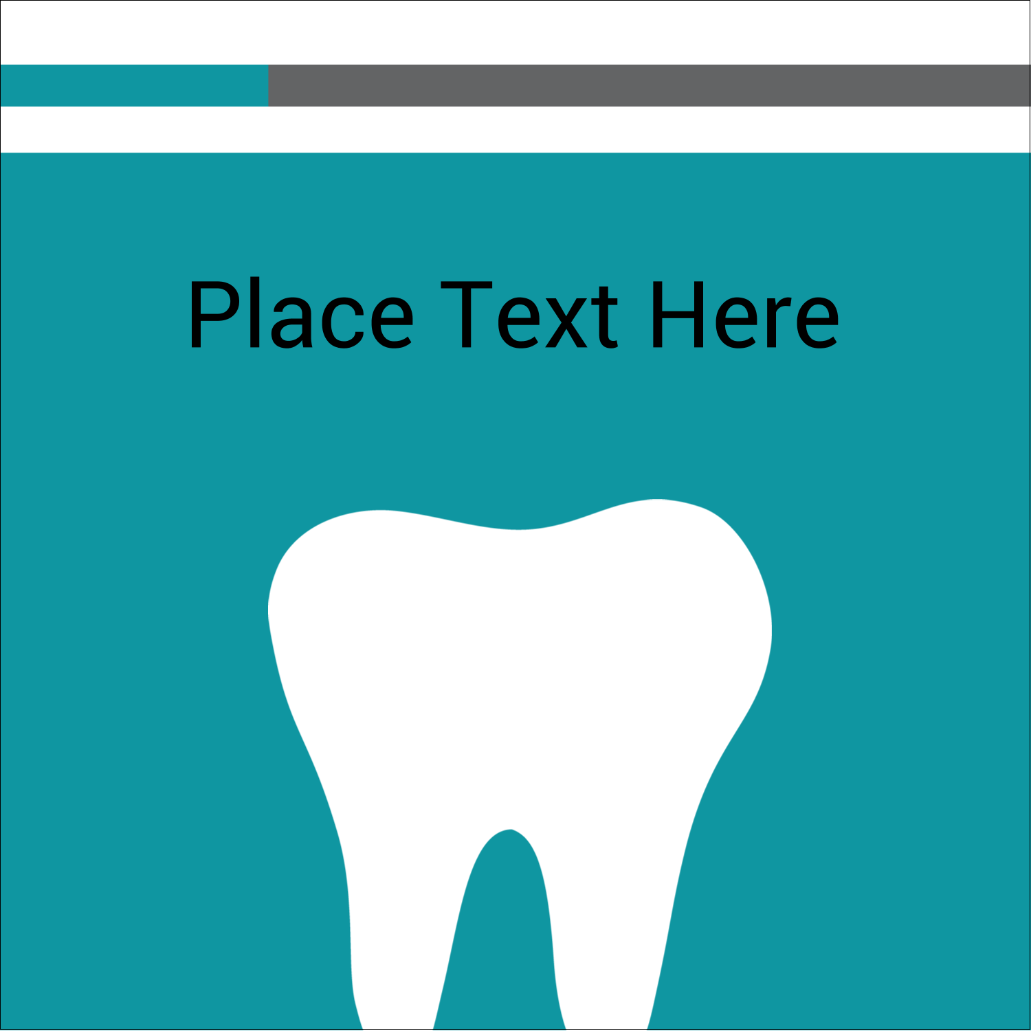"""2"""" x 2"""" Sqaure Label - Dentist Tooth"""
