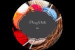 Tricot Étiquettes arrondies - gabarit prédéfini. <br/>Utilisez notre logiciel Avery Design & Print Online pour personnaliser facilement la conception.
