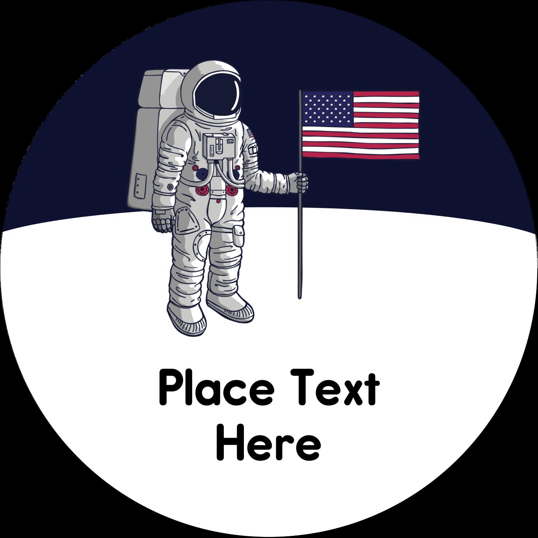 "2"" Round Label - Astronaut"
