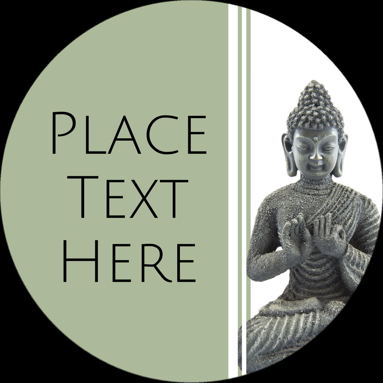 """2"""" Round Label - Buddha"""