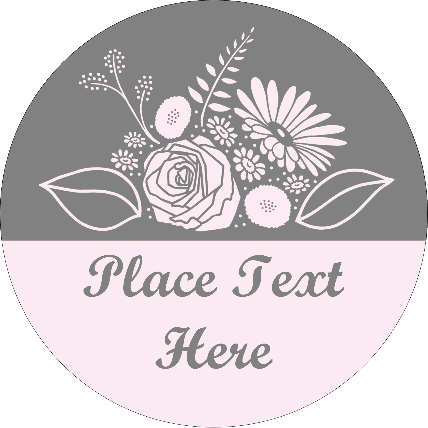 "2"" Round Label - Floral Bouquet"