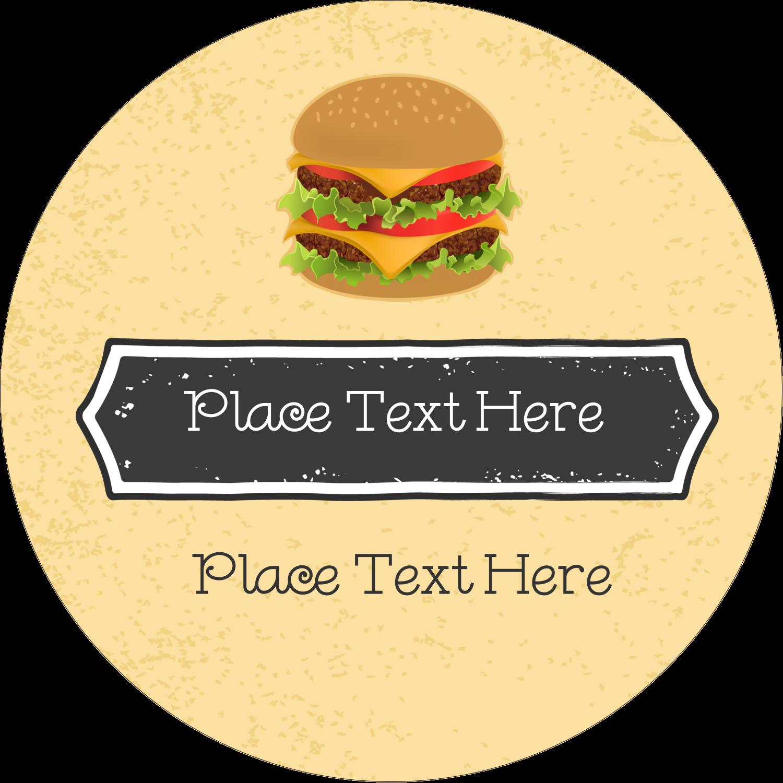 "2"" Round Label - Burger"