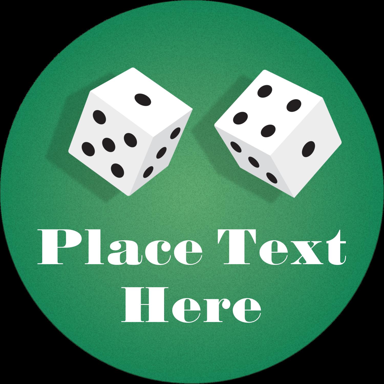 "2"" Round Label - Poker Game"
