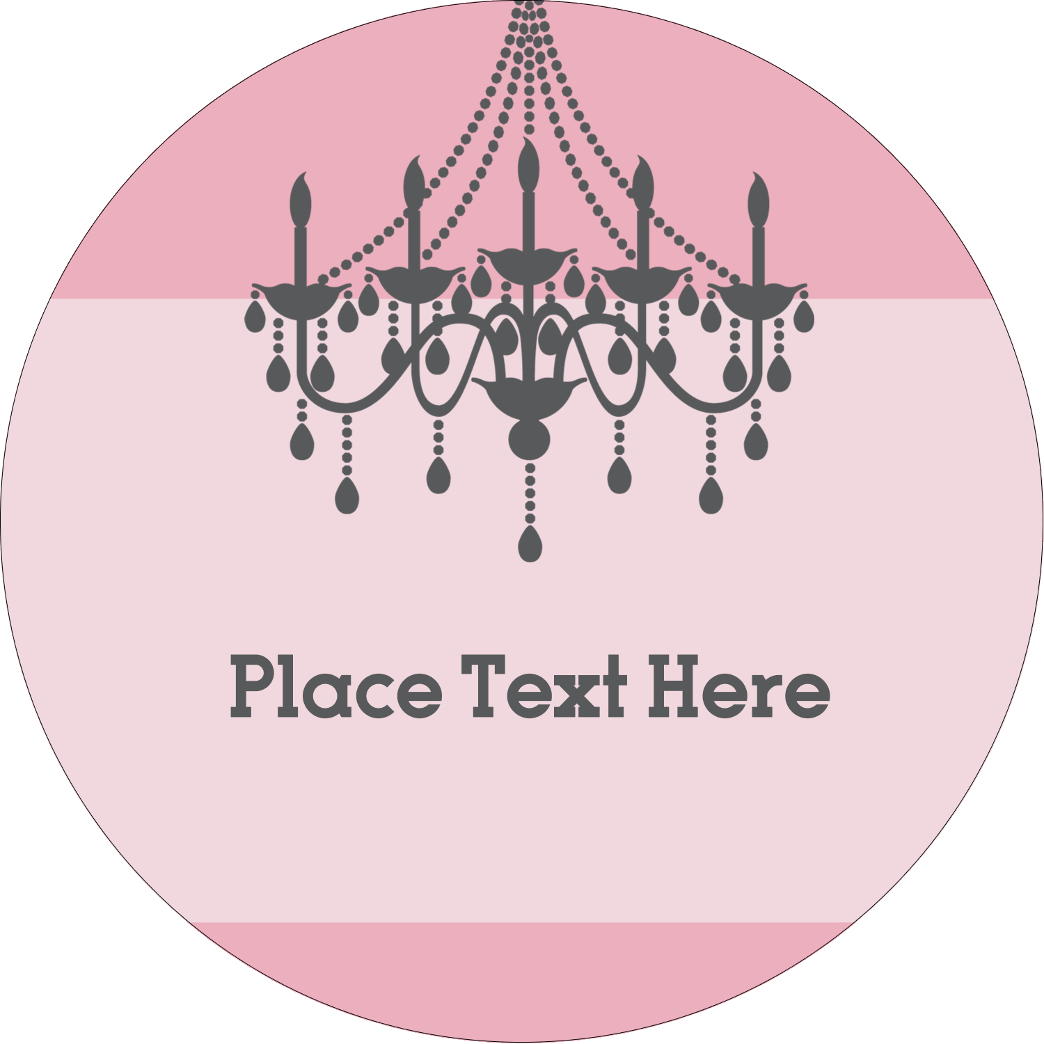 "2"" Round Label - Chandelier"