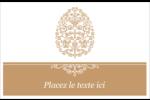 Œuf de Pâques de couleur bronze Étiquettes d'adresse - gabarit prédéfini. <br/>Utilisez notre logiciel Avery Design & Print Online pour personnaliser facilement la conception.