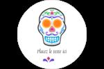 Le jour du Crâne Étiquettes rondes - gabarit prédéfini. <br/>Utilisez notre logiciel Avery Design & Print Online pour personnaliser facilement la conception.