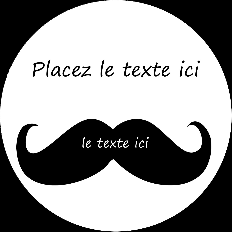 """2½"""" Diameter Étiquettes rondes - Moustache de bonbons"""