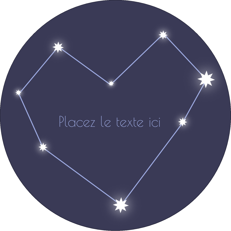 """2½"""" Diameter Étiquettes rondes - Étoiles d'anniversaire"""