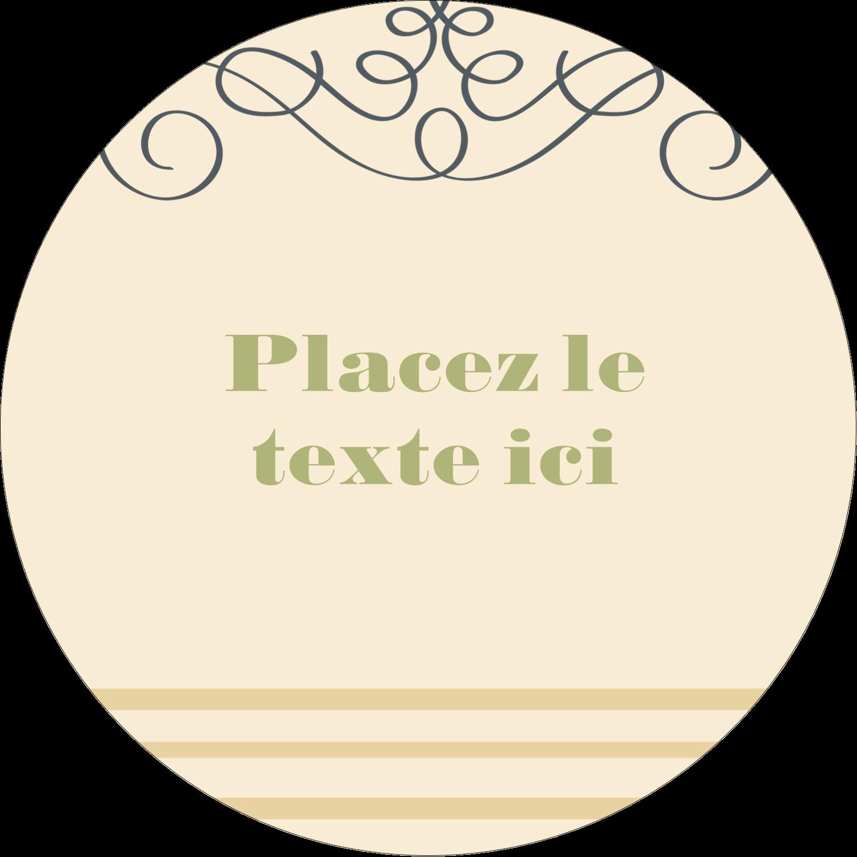 """2½"""" Diameter Étiquettes rondes - Souhaits d'anniversaire"""