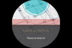 Architecture  Étiquettes rondes - gabarit prédéfini. <br/>Utilisez notre logiciel Avery Design & Print Online pour personnaliser facilement la conception.
