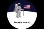Astronaute Étiquettes rondes - gabarit prédéfini. <br/>Utilisez notre logiciel Avery Design & Print Online pour personnaliser facilement la conception.