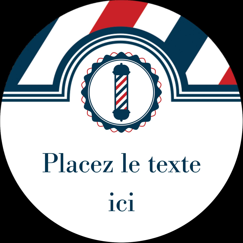 """2"""" Diameter Étiquettes rondes - Enseigne de barbier audacieuse"""