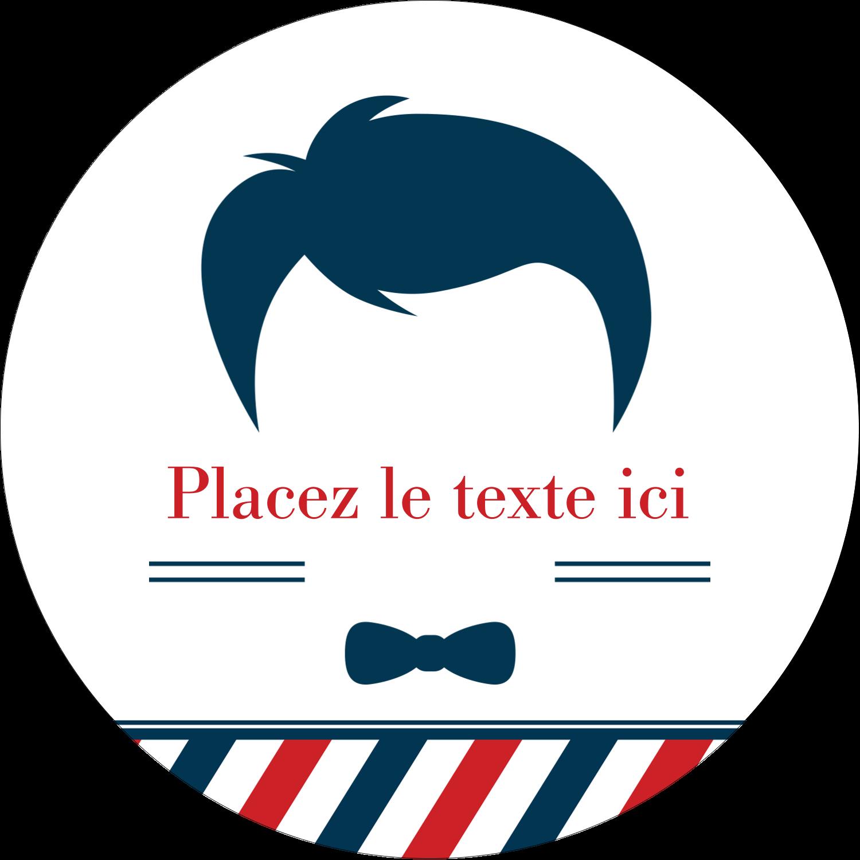 """2½"""" Diameter Étiquettes rondes - Salon de barbier"""