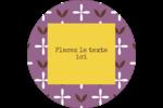 Lavande géométrique Étiquettes rondes - gabarit prédéfini. <br/>Utilisez notre logiciel Avery Design & Print Online pour personnaliser facilement la conception.