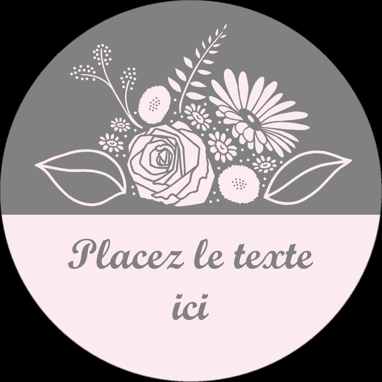 """2½"""" Diameter Étiquettes rondes - Bouquet de fleurs"""