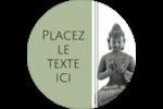 Bouddha Étiquettes rondes - gabarit prédéfini. <br/>Utilisez notre logiciel Avery Design & Print Online pour personnaliser facilement la conception.