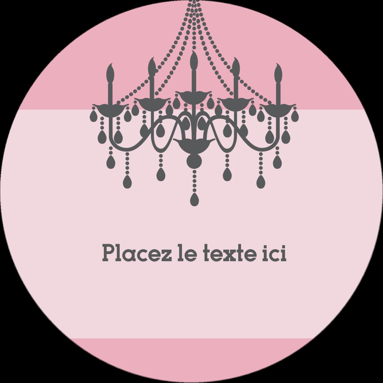 """2½"""" Diameter Étiquettes rondes - Chandelier"""