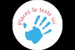 Mains enfantines Étiquettes rondes - gabarit prédéfini. <br/>Utilisez notre logiciel Avery Design & Print Online pour personnaliser facilement la conception.