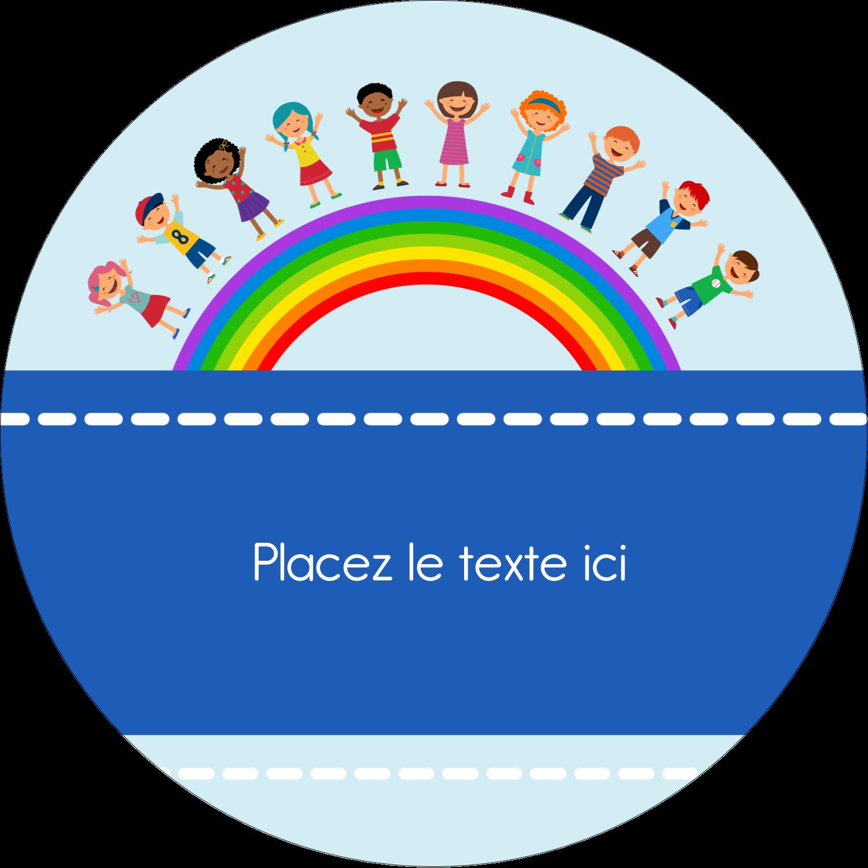 """2½"""" Diameter Étiquettes rondes - Éducation des enfants"""