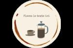 L'heure du café Étiquettes rondes - gabarit prédéfini. <br/>Utilisez notre logiciel Avery Design & Print Online pour personnaliser facilement la conception.