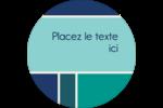 Bloc de couleur Étiquettes rondes - gabarit prédéfini. <br/>Utilisez notre logiciel Avery Design & Print Online pour personnaliser facilement la conception.