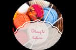 Tricot Étiquettes rondes - gabarit prédéfini. <br/>Utilisez notre logiciel Avery Design & Print Online pour personnaliser facilement la conception.