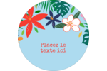 Plantes tropicales Étiquettes rondes - gabarit prédéfini. <br/>Utilisez notre logiciel Avery Design & Print Online pour personnaliser facilement la conception.
