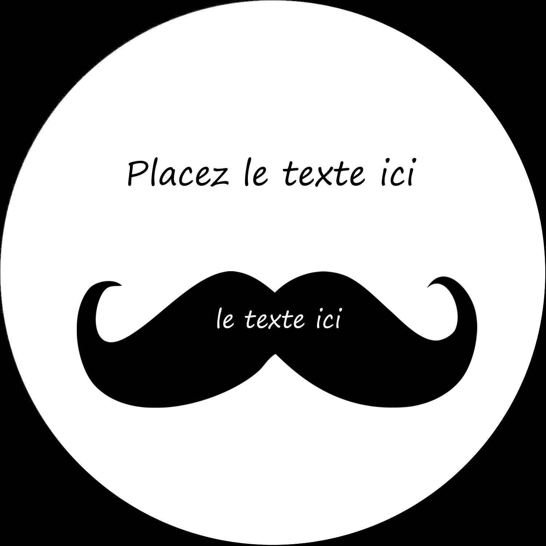 """3"""" x 2¼"""" Étiquettes arrondies - Moustache de bonbons"""