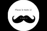 Moustache de bonbons Étiquettes arrondies - gabarit prédéfini. <br/>Utilisez notre logiciel Avery Design & Print Online pour personnaliser facilement la conception.