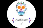 Le jour du Crâne Étiquettes arrondies - gabarit prédéfini. <br/>Utilisez notre logiciel Avery Design & Print Online pour personnaliser facilement la conception.