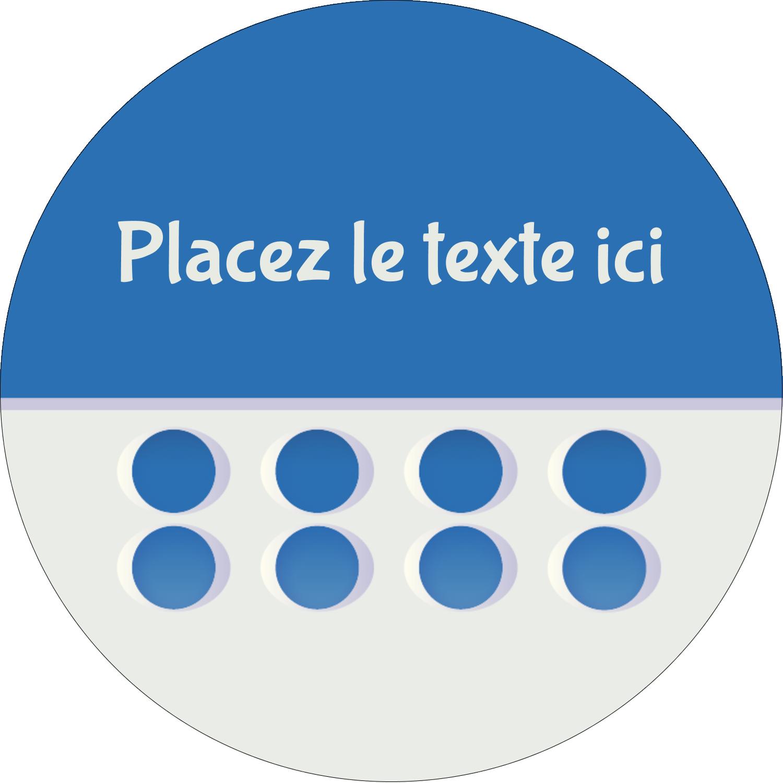 """3"""" x 2¼"""" Étiquettes arrondies - 4e étage"""
