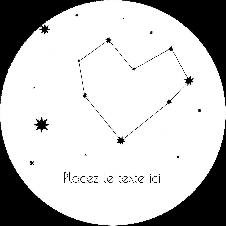 """3"""" x 2¼"""" Étiquettes arrondies - Étoiles d'anniversaire"""