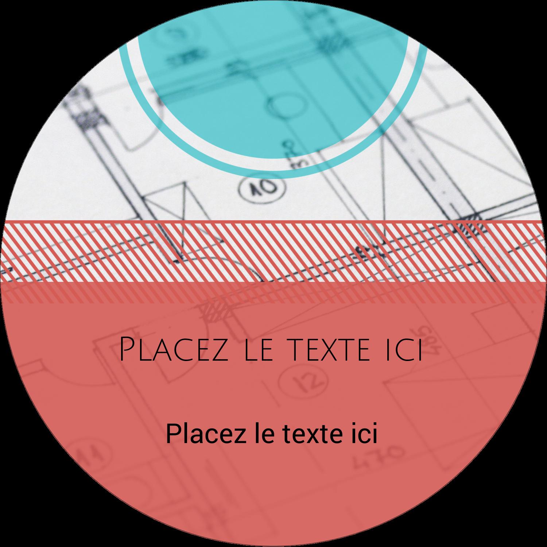 """3"""" x 2¼"""" Étiquettes arrondies - Architecture"""