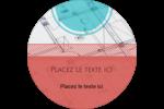 Architecture  Étiquettes arrondies - gabarit prédéfini. <br/>Utilisez notre logiciel Avery Design & Print Online pour personnaliser facilement la conception.