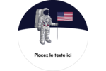 Astronaute Étiquettes arrondies - gabarit prédéfini. <br/>Utilisez notre logiciel Avery Design & Print Online pour personnaliser facilement la conception.