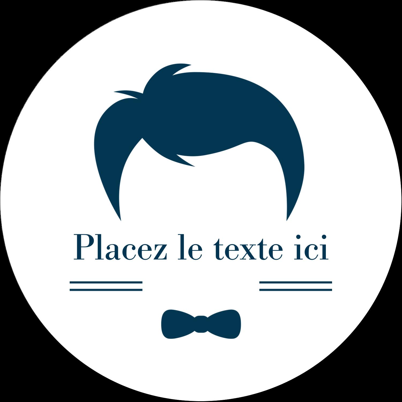 """3"""" x 2¼"""" Étiquettes arrondies - Salon de barbier"""