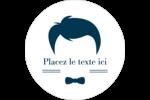 Salon de barbier Étiquettes arrondies - gabarit prédéfini. <br/>Utilisez notre logiciel Avery Design & Print Online pour personnaliser facilement la conception.