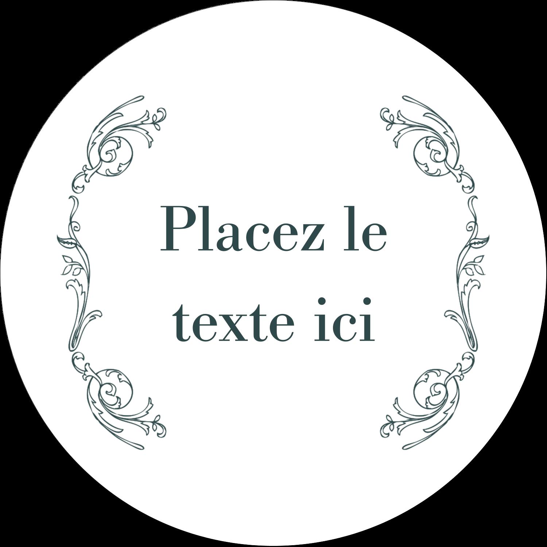 """3"""" x 2¼"""" Étiquettes arrondies - Cachet français"""