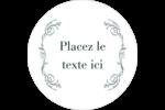 Cachet français Étiquettes arrondies - gabarit prédéfini. <br/>Utilisez notre logiciel Avery Design & Print Online pour personnaliser facilement la conception.