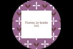 Lavande géométrique Étiquettes arrondies - gabarit prédéfini. <br/>Utilisez notre logiciel Avery Design & Print Online pour personnaliser facilement la conception.