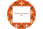 Fleurs orange géométriques Étiquettes arrondies - gabarit prédéfini. <br/>Utilisez notre logiciel Avery Design & Print Online pour personnaliser facilement la conception.
