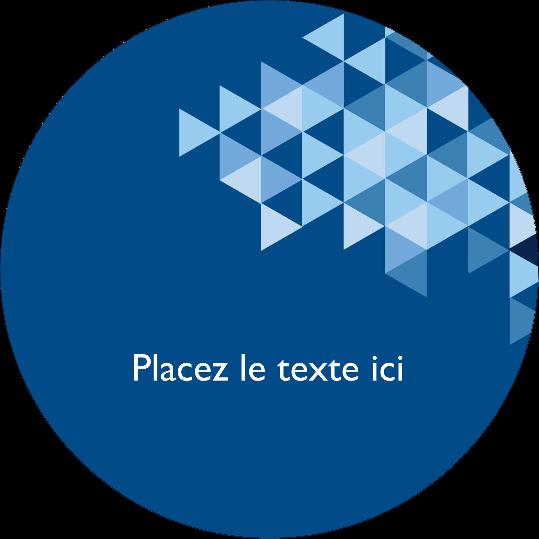 """3"""" x 2¼"""" Étiquettes arrondies - Angles bleus"""