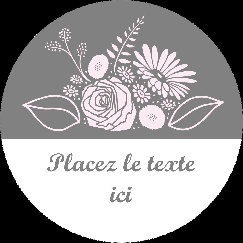 """3"""" x 2¼"""" Étiquettes arrondies - Bouquet de fleurs"""