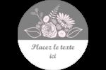 Bouquet de fleurs Étiquettes arrondies - gabarit prédéfini. <br/>Utilisez notre logiciel Avery Design & Print Online pour personnaliser facilement la conception.