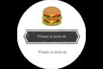 Hamburger Étiquettes arrondies - gabarit prédéfini. <br/>Utilisez notre logiciel Avery Design & Print Online pour personnaliser facilement la conception.